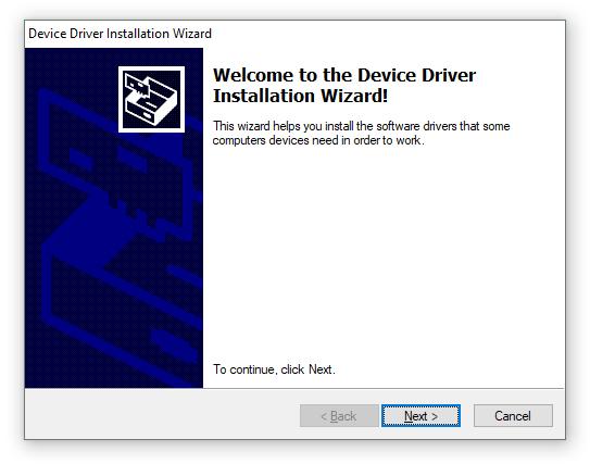 FTDI USB Device Driver Installation Dialog 1