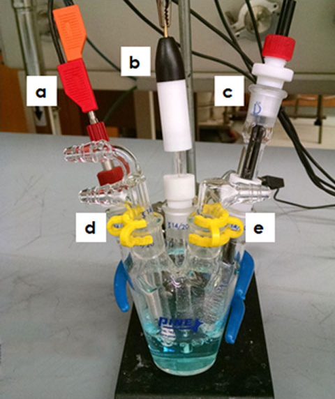 Water Insensitive Electrochemical Cell Setup