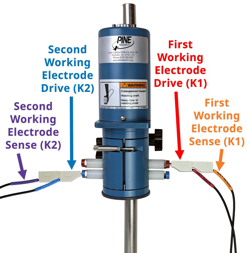 MSR Rotator Electrode Connections for a Rotating Ring-Disk Electrode (RRDE)