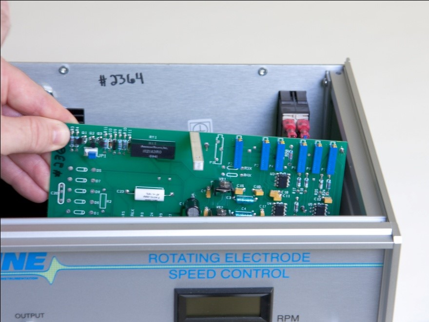 Access the Input Ratio Control Jumpers within the MSR Control Unit
