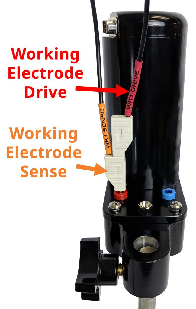 WaveVortex 10 Rotator Working Electrode Connection for a Rotating Disk Electrode (RDE)