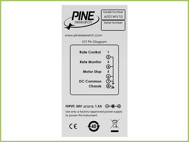 WaveVortex 10 Rotator I/O Port Pinout Label