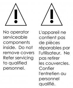 Back Panel Safety Warning Labels