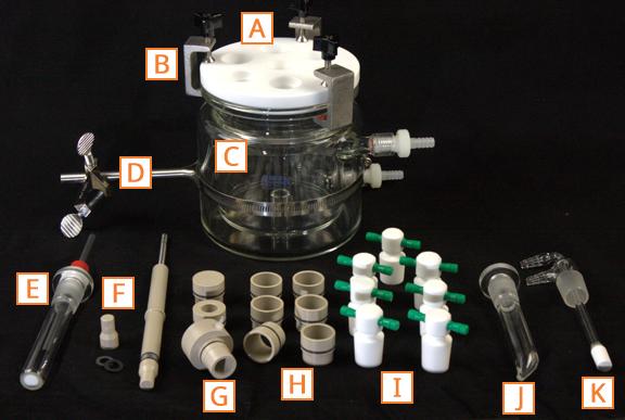 Components of 15 mm RCE Corrosion Setup