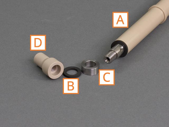 Disassembled Single 15 mm Cylinder RCE Shaft