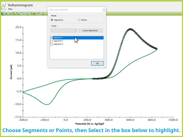 Point or Segment Selection Window in AfterMath