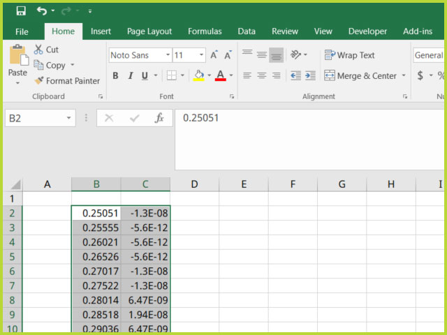 Quick Export of Selected Points/Segments in AfterMath to an External Spredsheet (Quick Export)