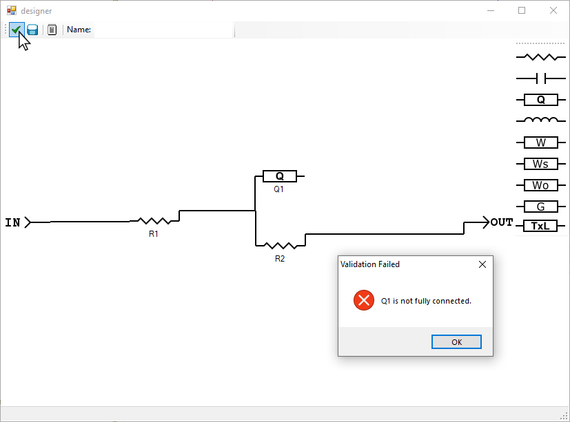 AfterMath Custom Circuit Validation Check with Invalid Circuit