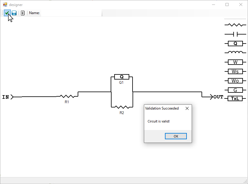 AfterMath Custom Circuit Validation Check with Valid Circuit