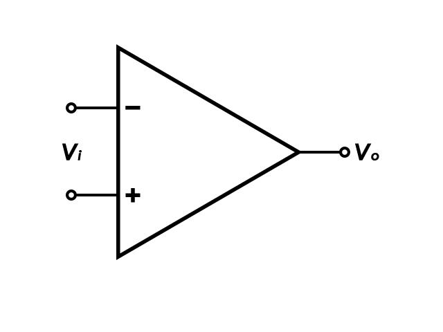 Operational Amplifier or Op-Amp simplified diagram