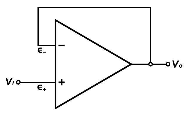 Voltage-Follower Operational Amplifier (Op-Amp) Circuit