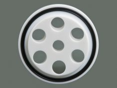 OpenTop Lid (PTFE) bottom side with replaceable gasket