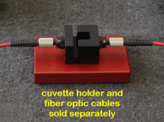 Avantes Cuvette Holder (shown with fiber optic cables)