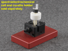 Honeycomb Spectroelectrochemical Cell in a Cuvette Holder