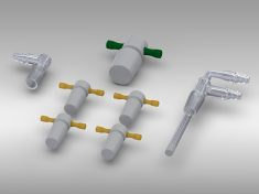 PTFE stoppers and sparging tubes for Electrochemical Cell