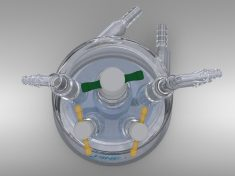 Jacketed Rotating Disk, Rotating Ring-Disk Cell RDE/RRDE Cell (Glass) with Accessories