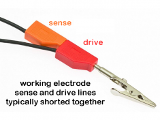 Working Electrode Sense and Drive Lines