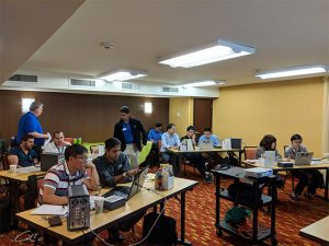 Training with international distributors on electrochemical impedance spectroscopy (EIS) using WaveDriver 200 bipotentiostat