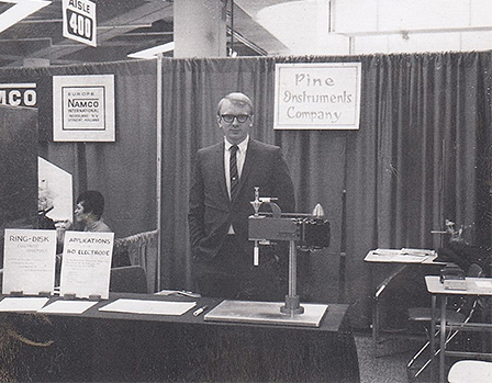 Dennis Johnson at Pine Research Booth