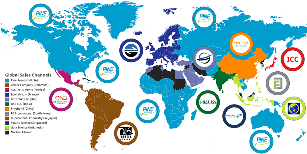 Pine Research Representative World Map